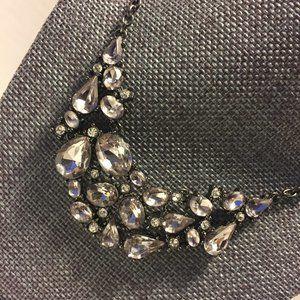Jewelry - Gunmetal/Light Purple CZ Necklace